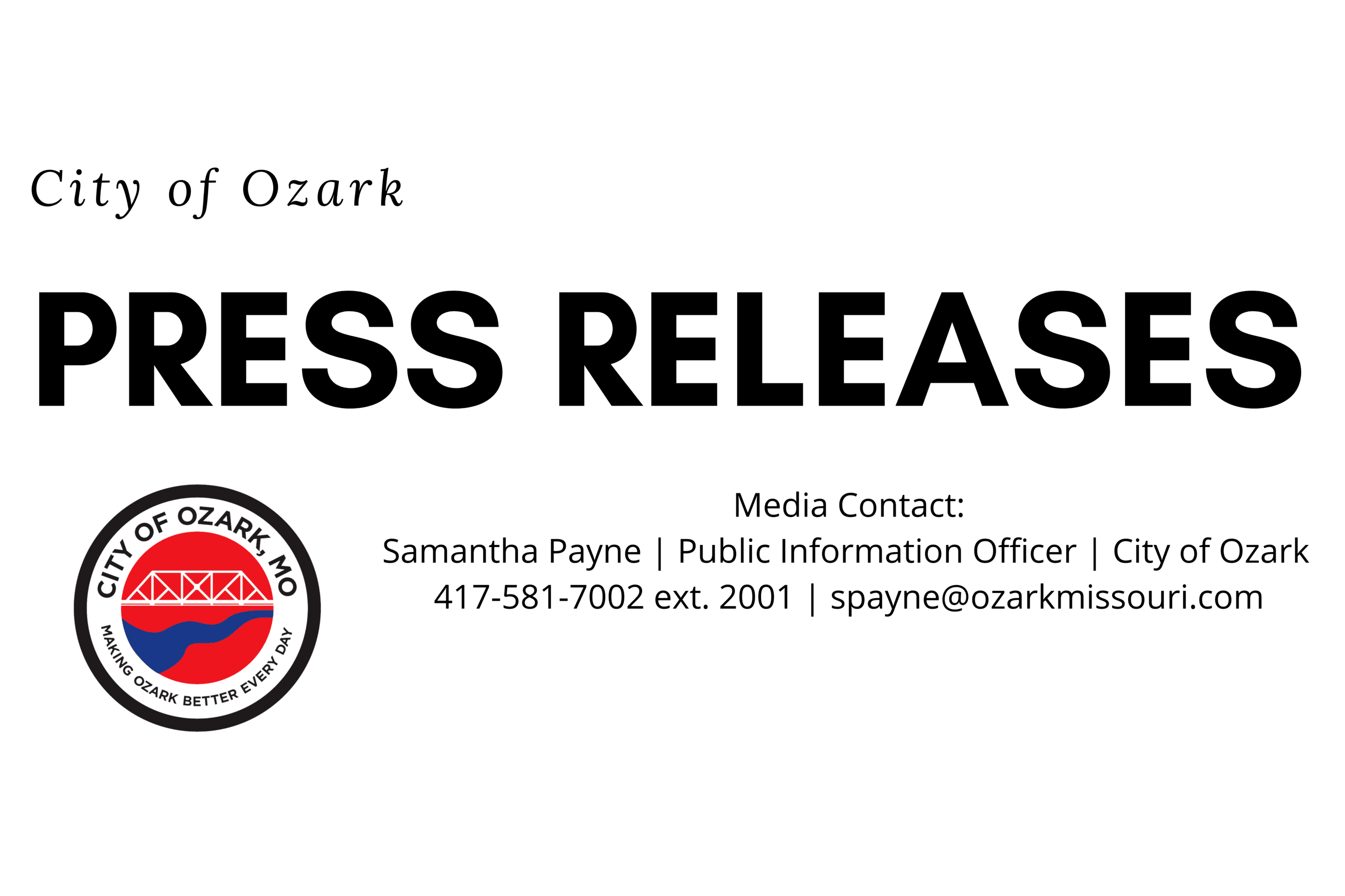 City of Ozark Press releases