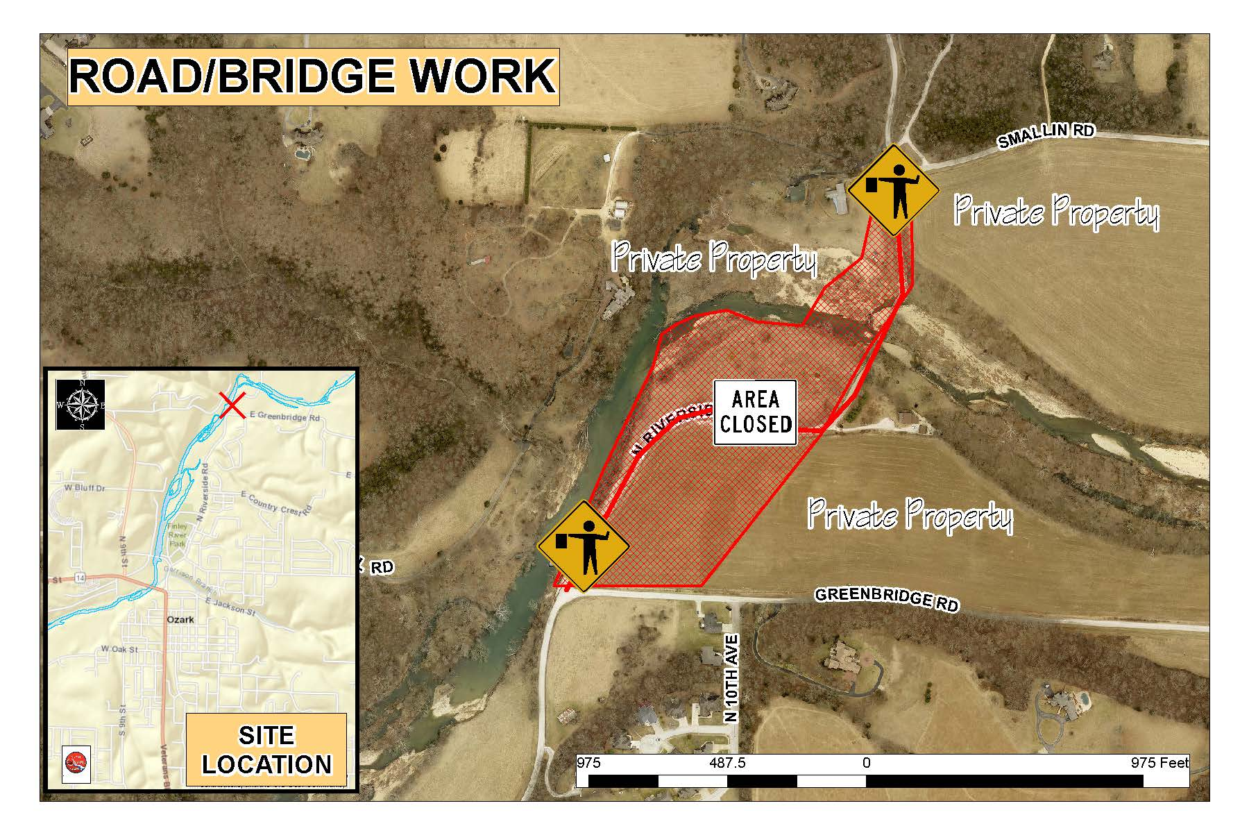 Riverside Bridge Road work