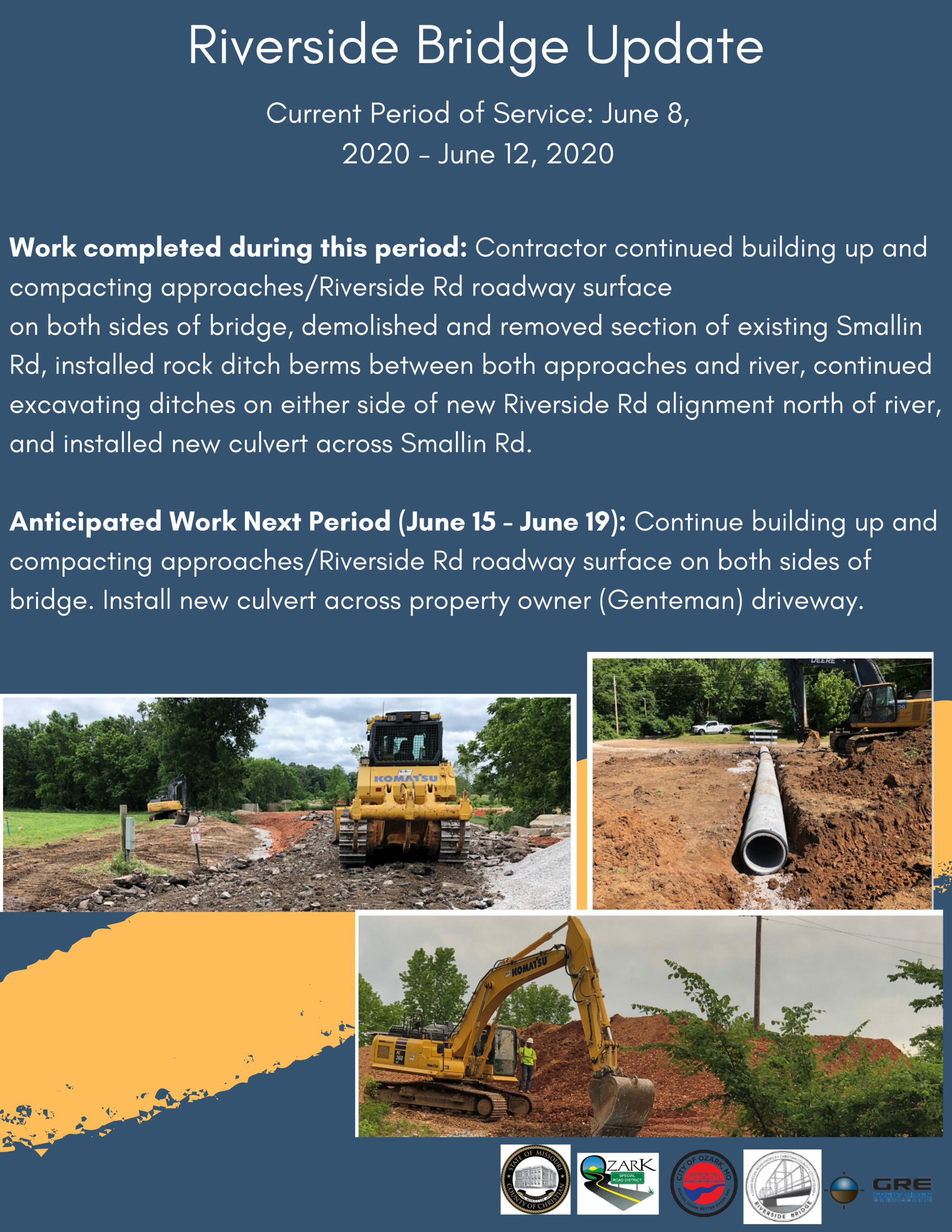 Riverside Inn Bridge Update June 12