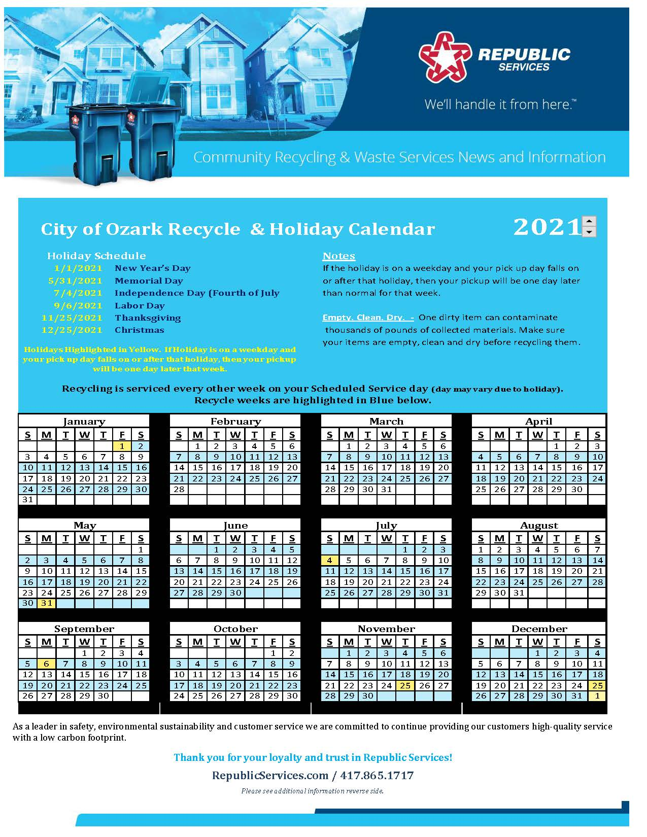 City of Ozark Recycle Calendar 2021_Page_1
